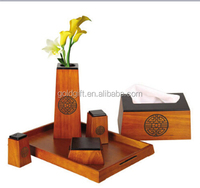 From China Wholesale Price Wooden Desktop Set