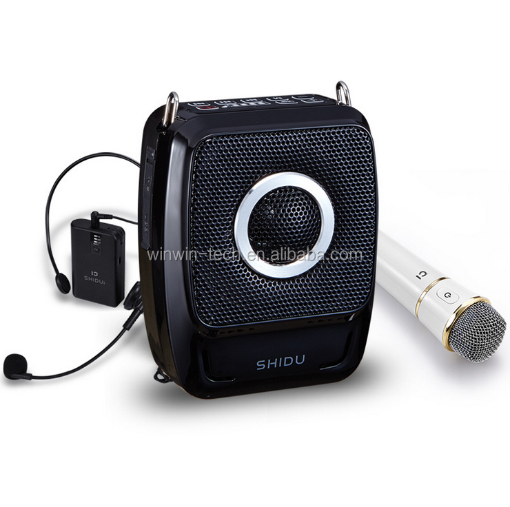 SHIDU 25W VHF wireless digital echo av karaoke amplifier for public speaking in classrooms church seminars