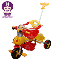 2-in-1 Kids Baby Tricycle - Red