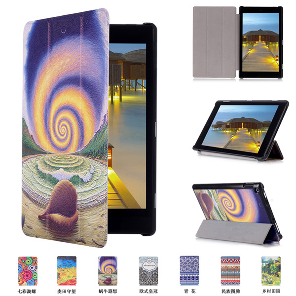 "Wholesale Customized Printing Leather 10.1"" Tablet Cover Case for Amazon Kindle Fire HD10 2015"