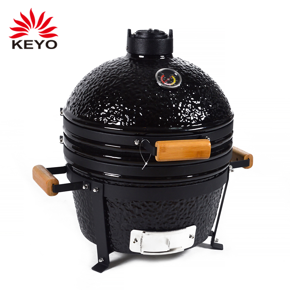 16 Inch Ceramic Egg Barbecue Grill Commercial Charcoal Equipment Kamado Tabletop Bbq Grill