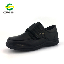 Greenshoe Customized Uniform Kids School Shoes Boys Black Leather School Shoes for Student