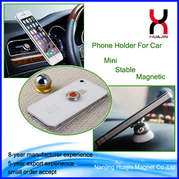 Factory Price Car Mount Adjustable Silicone Magnetic Air Vent Clip Grip Phone Holder Stand