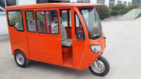 CKD version three wheel motorcycle 1.2KW motor with closed body