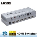 HDMI switch 5x1 4k 2k uhd hdmi v1.4 5-port 1080p hdmi 3d switcher with remote