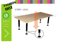 korean style furniture Manual Lifting height adjustable drawing table office workstations