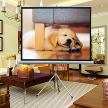 50 inch tripod projector screen/floor standing projection screens
