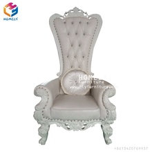 white classic royal king chair for wedding party
