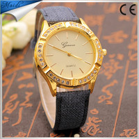 Hot Fashion Women Lady Casual Geneva Watch Analog Quartz Leather Watch Relogio Feminino Clock GW091