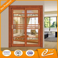 2016 Main Gate Design CE Standard Aluminum Sliding Door with Drawing Used Exterior Doors for Sale
