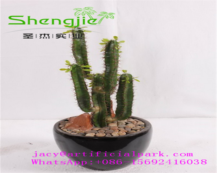 SJLJ 0792 Hot selling decorative artificial plant , artificial cactus plant