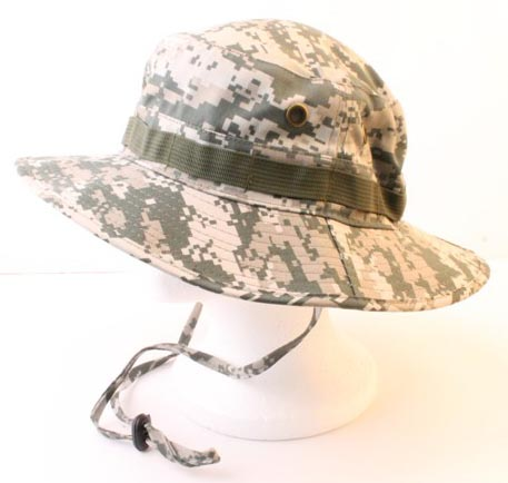 Blue camo wholesale bucket hats Black string Fisherman military bucket hat