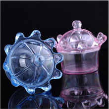 Cheap Wholesale Pink Blue Clear Plastic Mini Crown Shaped Gift Candy Package Box