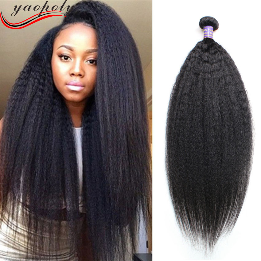 Raw Unprocessed Virgin Indian Hair Weave Bundles Italian Yaki Hair