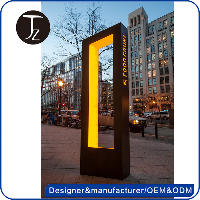 Modern design outdoor lighted Pylon/led real estate signs