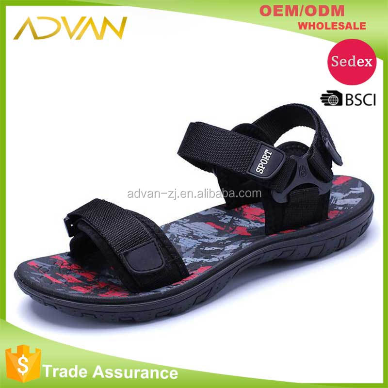 2017 new design confortable RB sole flat man beach <strong>sandal</strong>