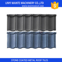 Wante Metal Roof 50-Year Warranty Low Cost Cheap Colorful Classical Stone Coated Corrugated Light weight Roof Tile