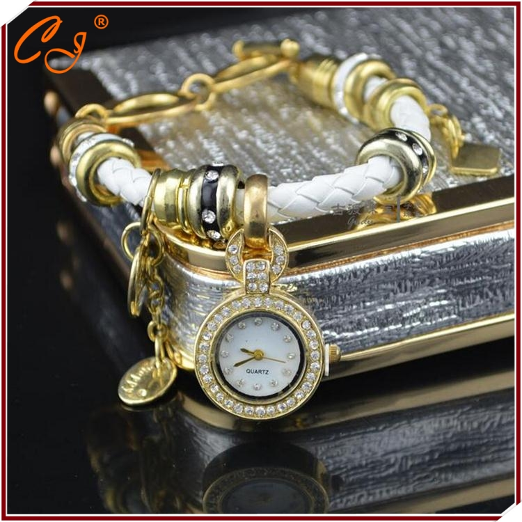 The Latest Ms Woven Diamond Bracelet Watch Hot Style Originality Watch CZ Pendant Watch