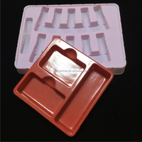 Customized Logo Design Plastic Flocked Trays For Makeup