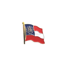 Georgia State Flag Lapel Pin GA Soft Enamel Flag Lapel Pin