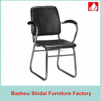 hard leather armchair office/visitor chair without wheels SD-D-3