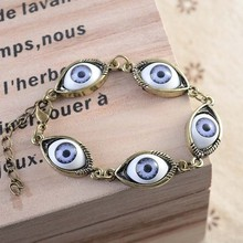 WLSL-1363 Wholesale 2015 Fashion Metal New Style High Quality Attractive Personalized Cat Eyes Lucky Charm Bracelet Jewelry