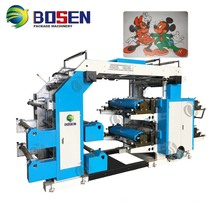 New 4 Color Flexo Automatic T-Shirt Printing Machine