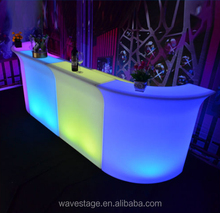 16 color change IP65 outdoor China factory led bar cocktail furniture led bar counter