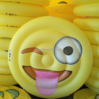 New Inflatable Water Play float Equipment Inflatable emoji pool raft
