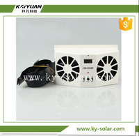 Wholesale 2W Solar Power Auto Vent Car Ventilation Fan Solar Car Fan