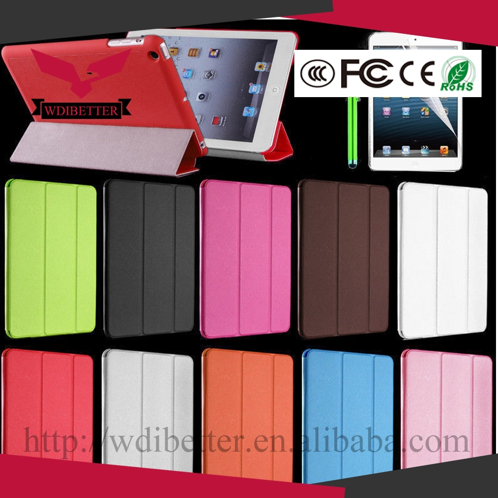 Best Well Leather Folio Case Smart Cover for Ipad Air 2 With Auto Sleep / Wake Function