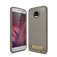 Silicone back Cover TPU Carbon Fiber Brushed For MOTO Z2 Protective