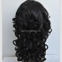 2014 New Design Wavy Synthetic Hair Lace Front Wigs for Black Women