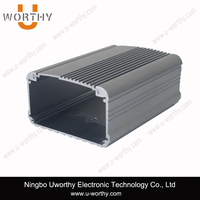split body case type al material made in china aluminum enclosure with double end panels electrical box