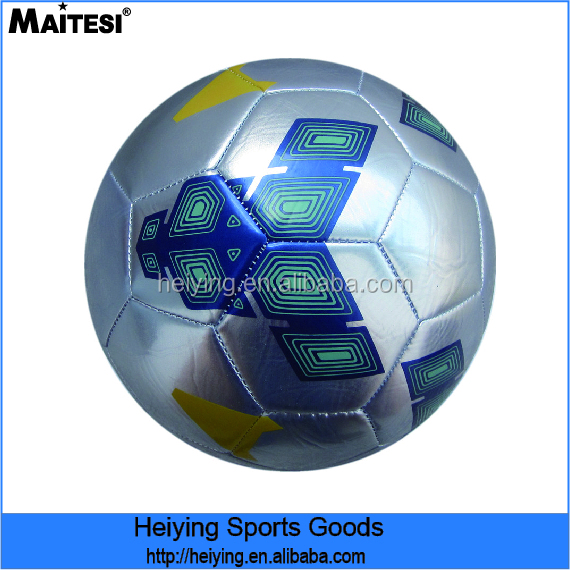 Machine Stitched Glowing PVC leather soccer ball
