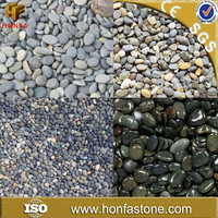 China Floor Price Black Mexican Beach Pebbles With Customizing Size