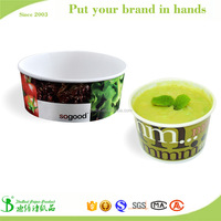 Custom logo printed high quality disposable pasta bowl