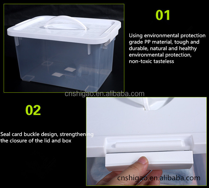 Houseware Products Knitted Storage Box Plastic With Lid and Handle