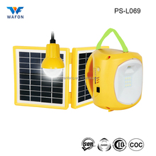 PS-L069 portable 4500mAh 6V LED solar lantern, reading lamp, home light with phone charger for camping or emergency lighting