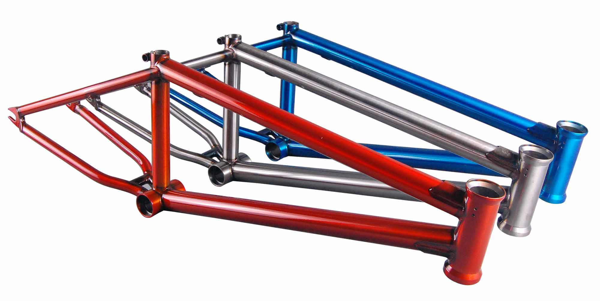Clip3 Cromoly 4130 Butted Trans Color BMX Bicycle Frame
