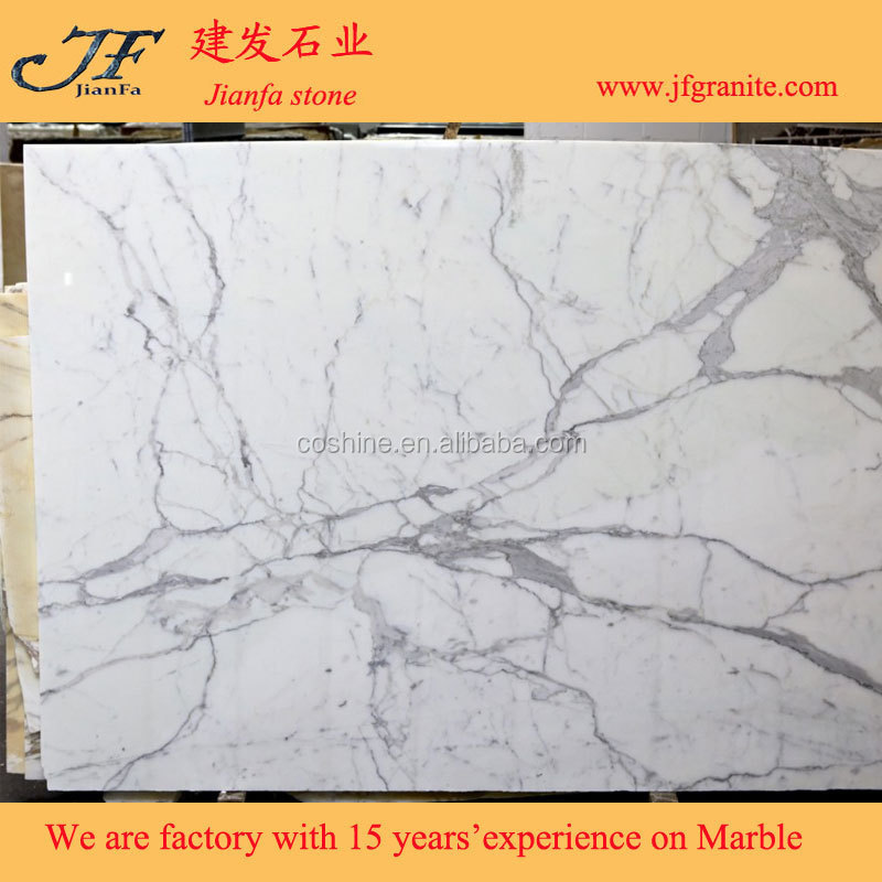 New Design Sale White Marble Bianco Statuario Venato Slab Factory Price