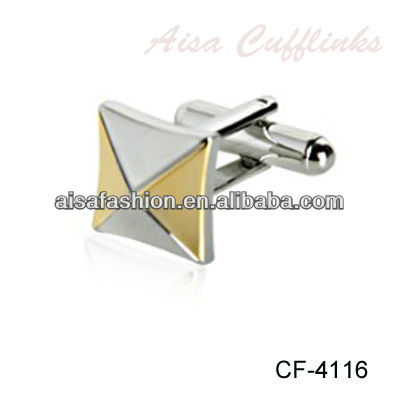 Two Tone Silver and Gold Cufflinks