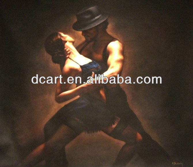 tango dancer oil painting