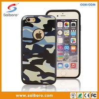Guangzhou manufacturer laser engraving mobile phone case tpu and pc hybrid case for iPhone 6