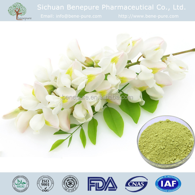 Food supplement Quercetin Anhydrous from natural sophora japonica L. flower buds, CAS No. 6151-25-3, original raw material in CN