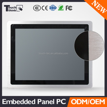 12 inch cheap computer all in one, embedded industrial pc, 1024*768 resolution industrial panel pc