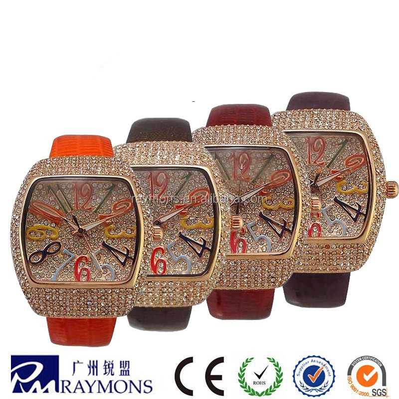 luxury lady charming watches full diamonds