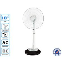 18 Inch Solar Rechargeable Emergency Stand Fans with light
