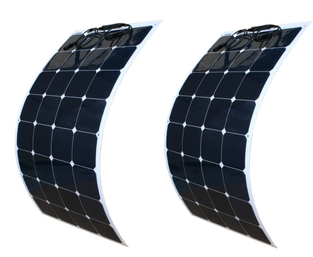 High Efficiency Semi Flexible 100 Watt Solar Panels For Marine