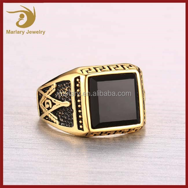 2017 Wholesale Stainless Steel Imitation Jewellery Ring Men Gothic Style Jewelry,Single Stone Ring Designs For Men